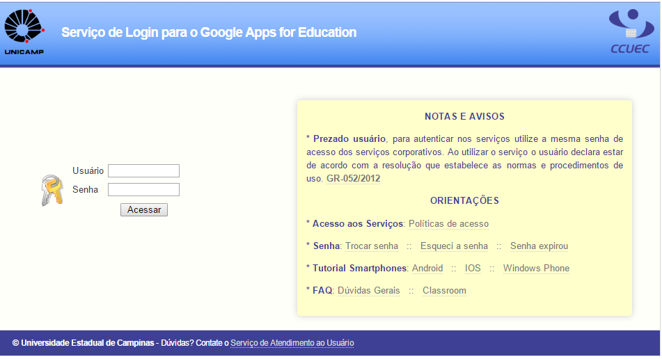 Print do site do Google Apps for Education quando a matéria da Lavits foi publicada.