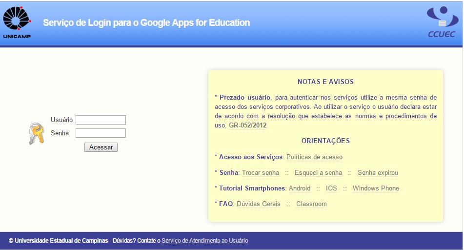 Print do site do Google Apps for Education quando a matéria da Lavits foi publicada.
