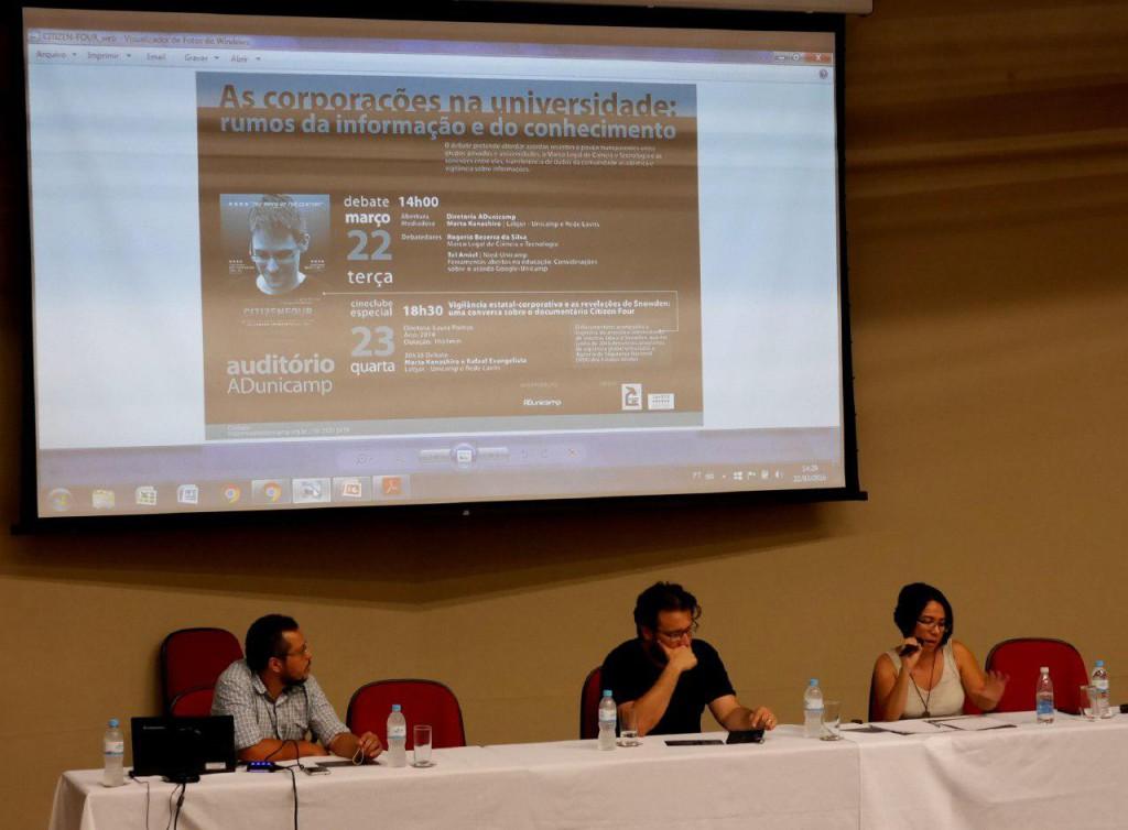 Mesa foi composta por Rogério Bezerra, Tel Amiel e Marta Kanashiro
